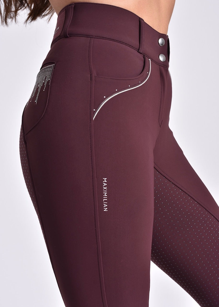 Vienna Full Grip Breeches - Mulberry