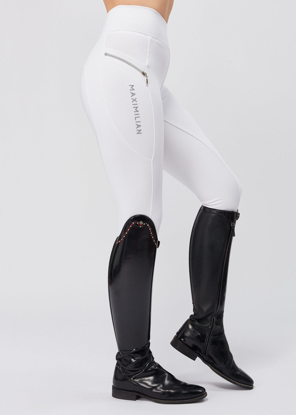 Charm Riding Leggings - White