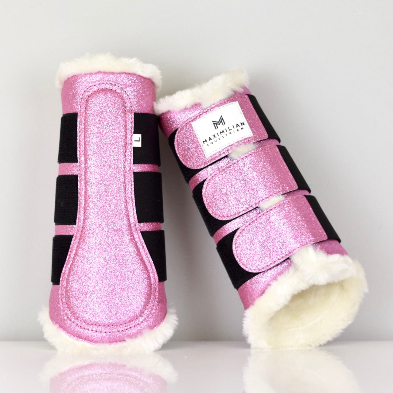 Glitter Brushing Boots - Flamingo Pink