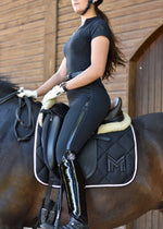 Croc Logo Saddle Pad - Dressage