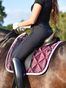 Heart Saddle Pad - Dressage (Satin Berry)