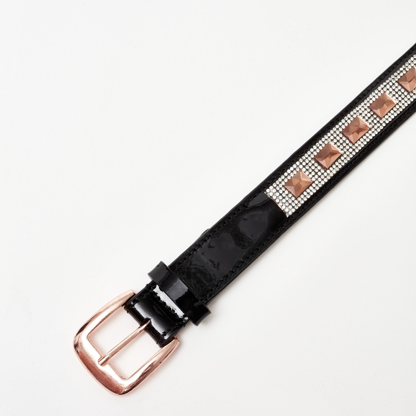 Crystal Glam Belt (Shiny Black)