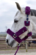Fluffy Halter + Lead Rope (Violette)