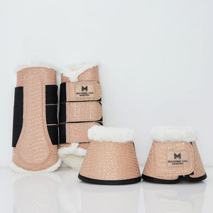 Limited Edition Croc Bell Boots (Peach)