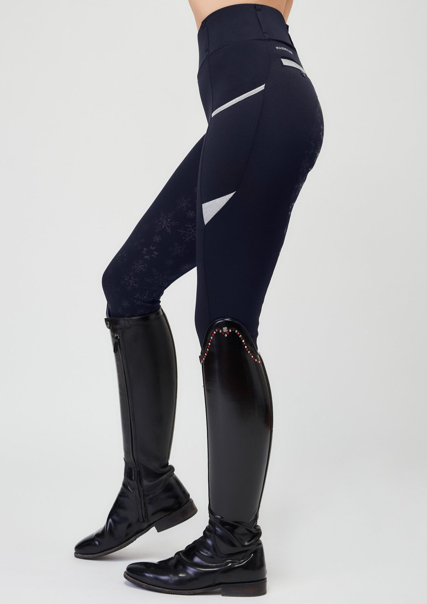 """Winter"" Limited Edition Leggings - Navy & Silver"