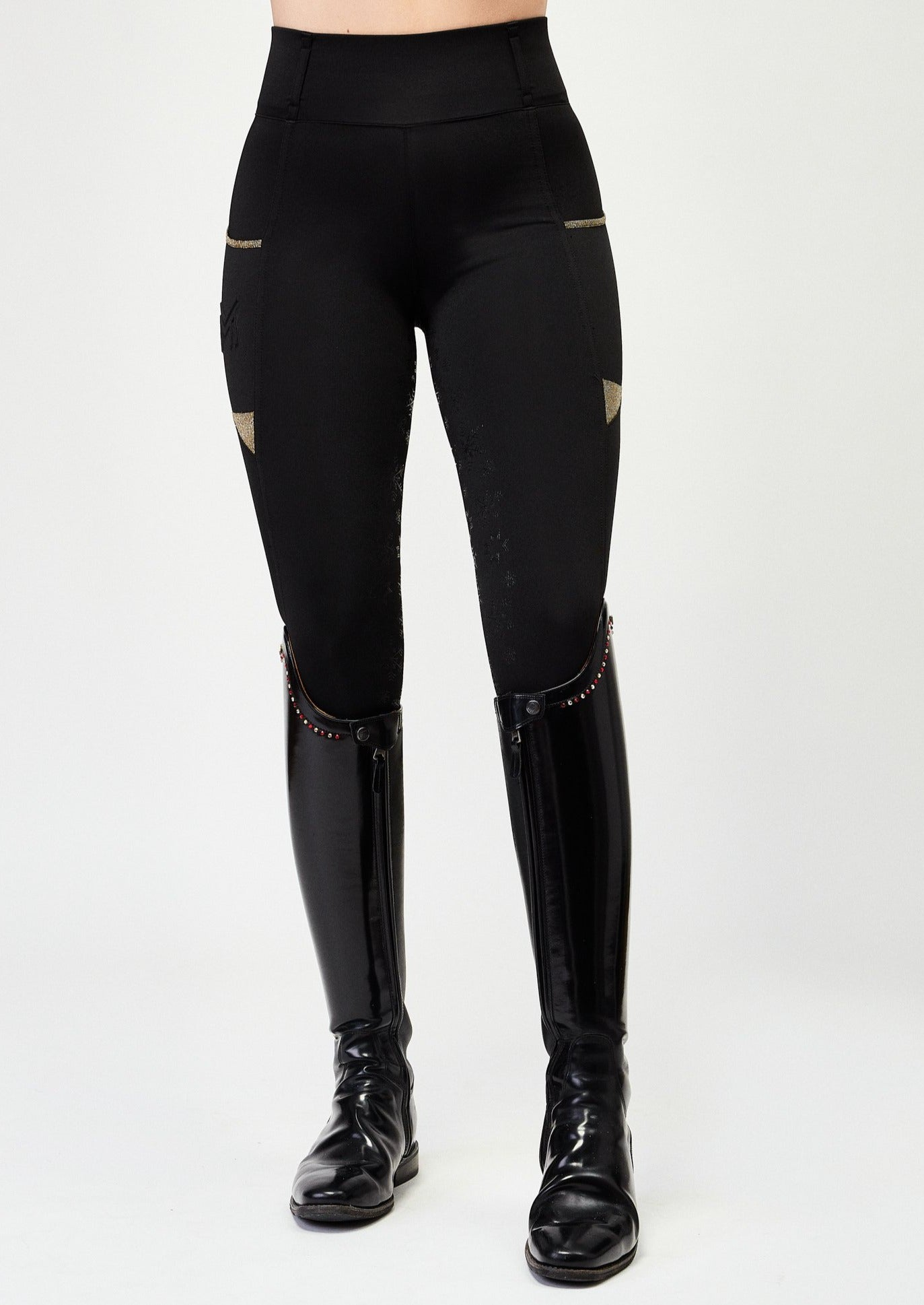"""Winter"" Limited Edition Leggings - Black & Gold"