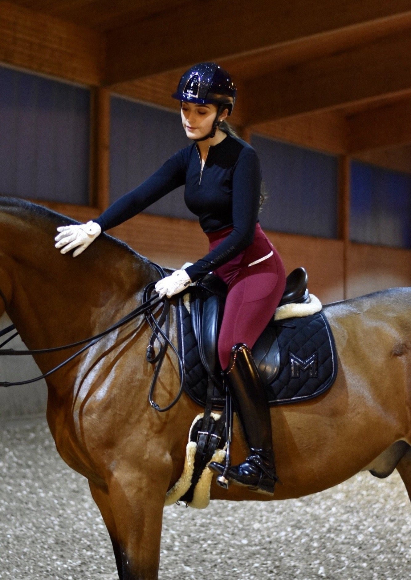 Charm Riding Leggings (all year round) - Ruby