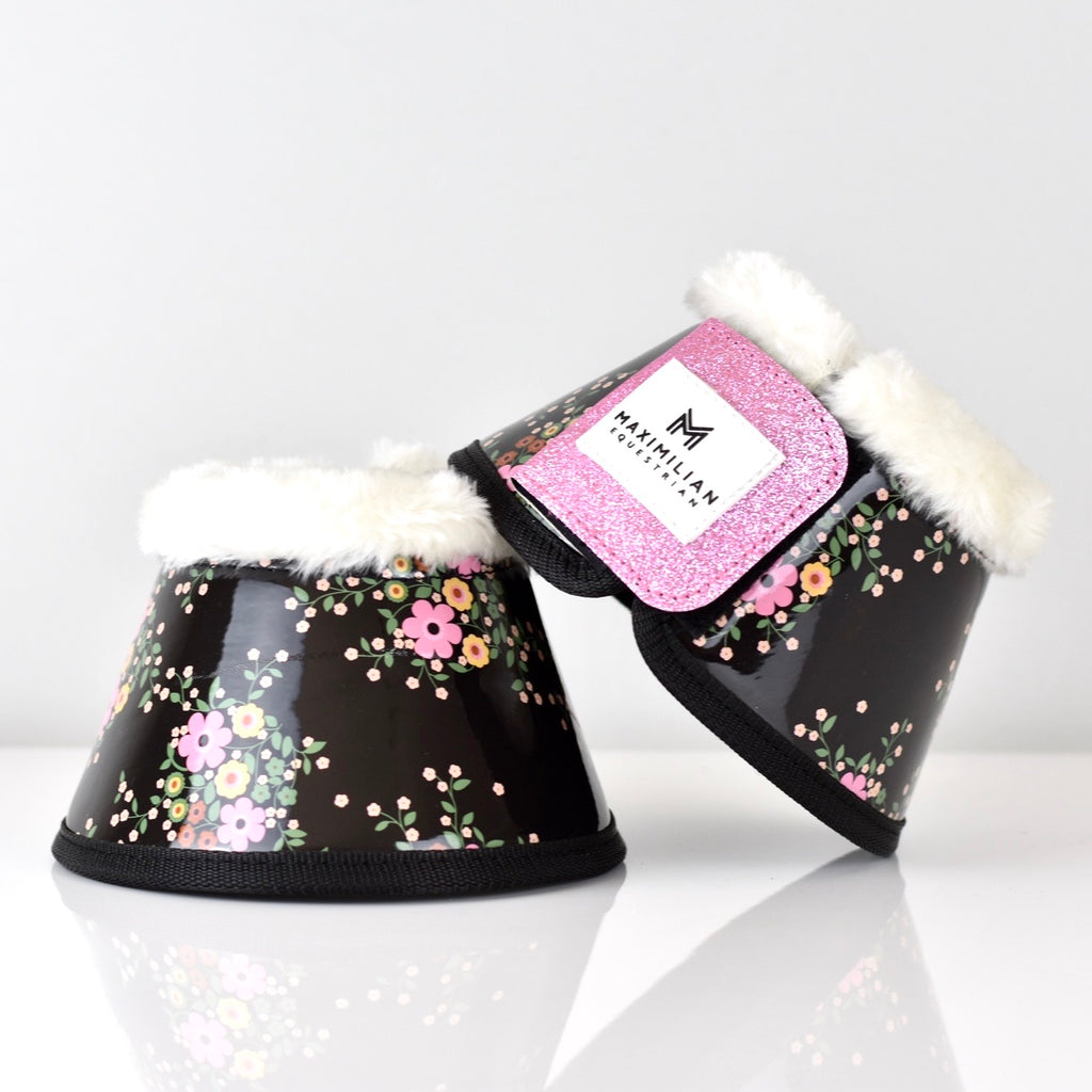 Gloss & Glitter Bell Boots - Flower Power