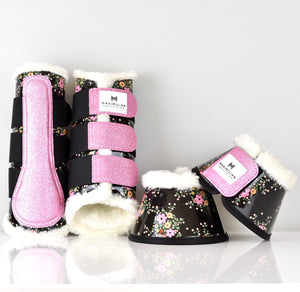 Gloss & Glitter Brushing Boots - Flower Power