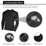 3 Pcs Men's Workout Set Long Sleeve - Niksa
