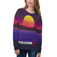 Escalation 1985 Outrun Sweater-Pattern Unisex Sweatshirt