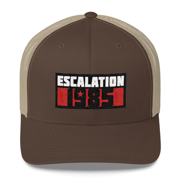 Escalation 1985 Embroidered Logo Trucker Cap with Mesh Back
