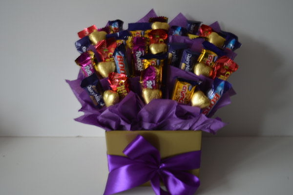 Selection Cadbury Assortments & Hearts Bouquet