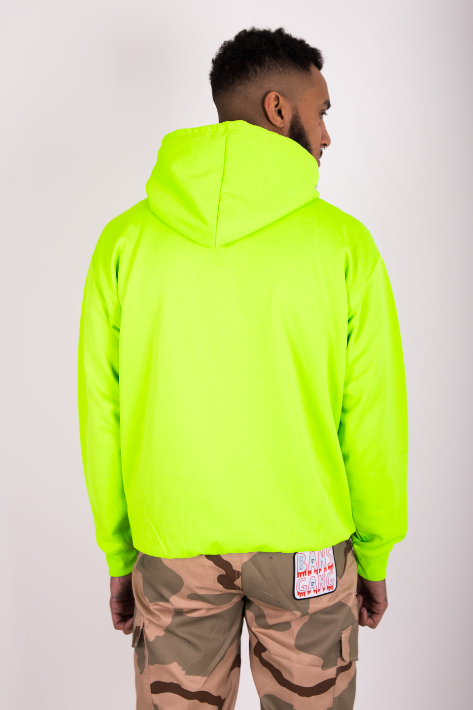 BANS GANG LOVES YOU - NEON GRAPHIC HOODIE