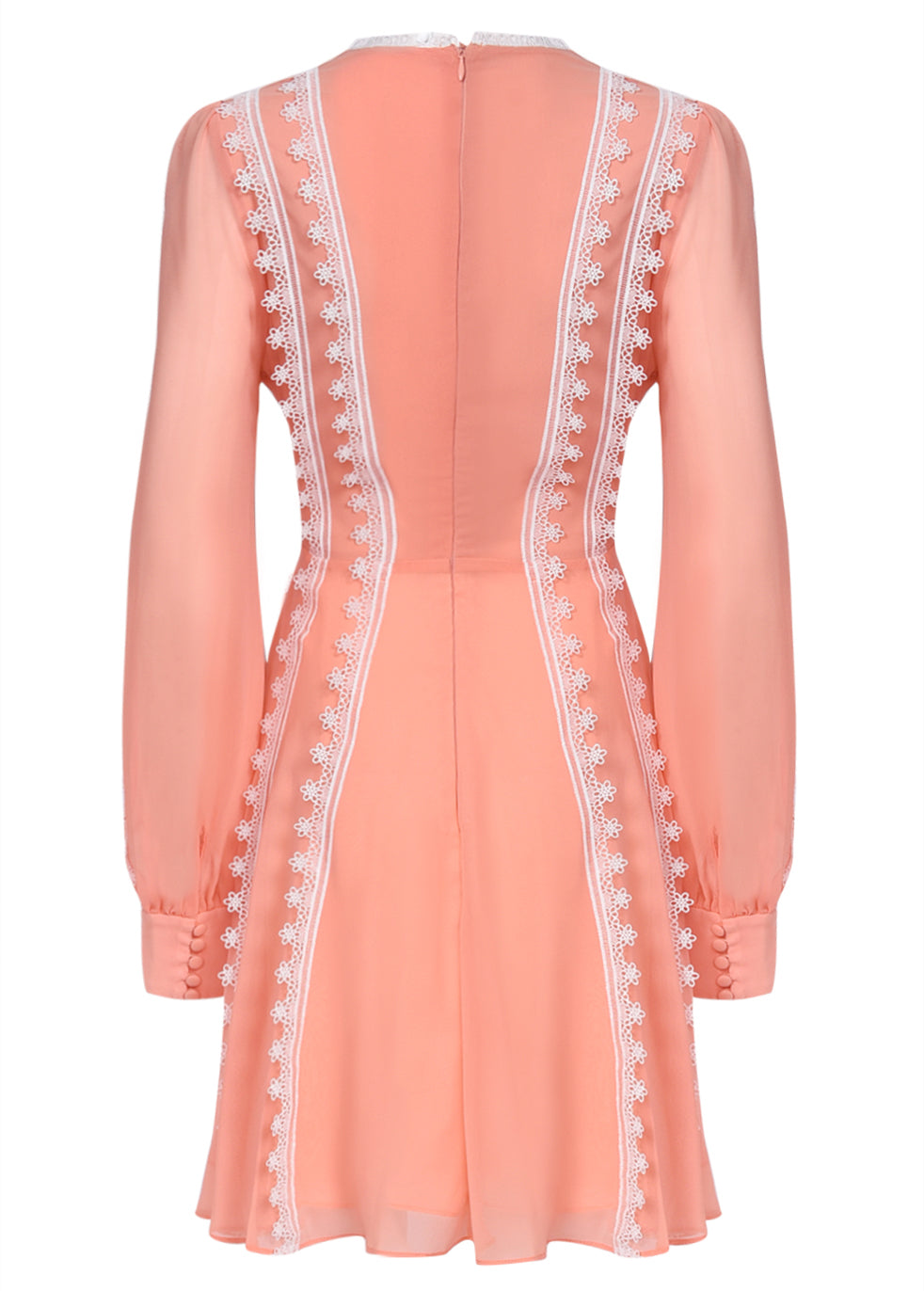 True Decadence Peach Corset Front Mini Dress