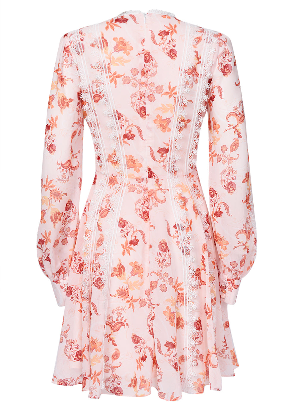 True Decadence Peach Orange Floral Corset Front Mini Dress
