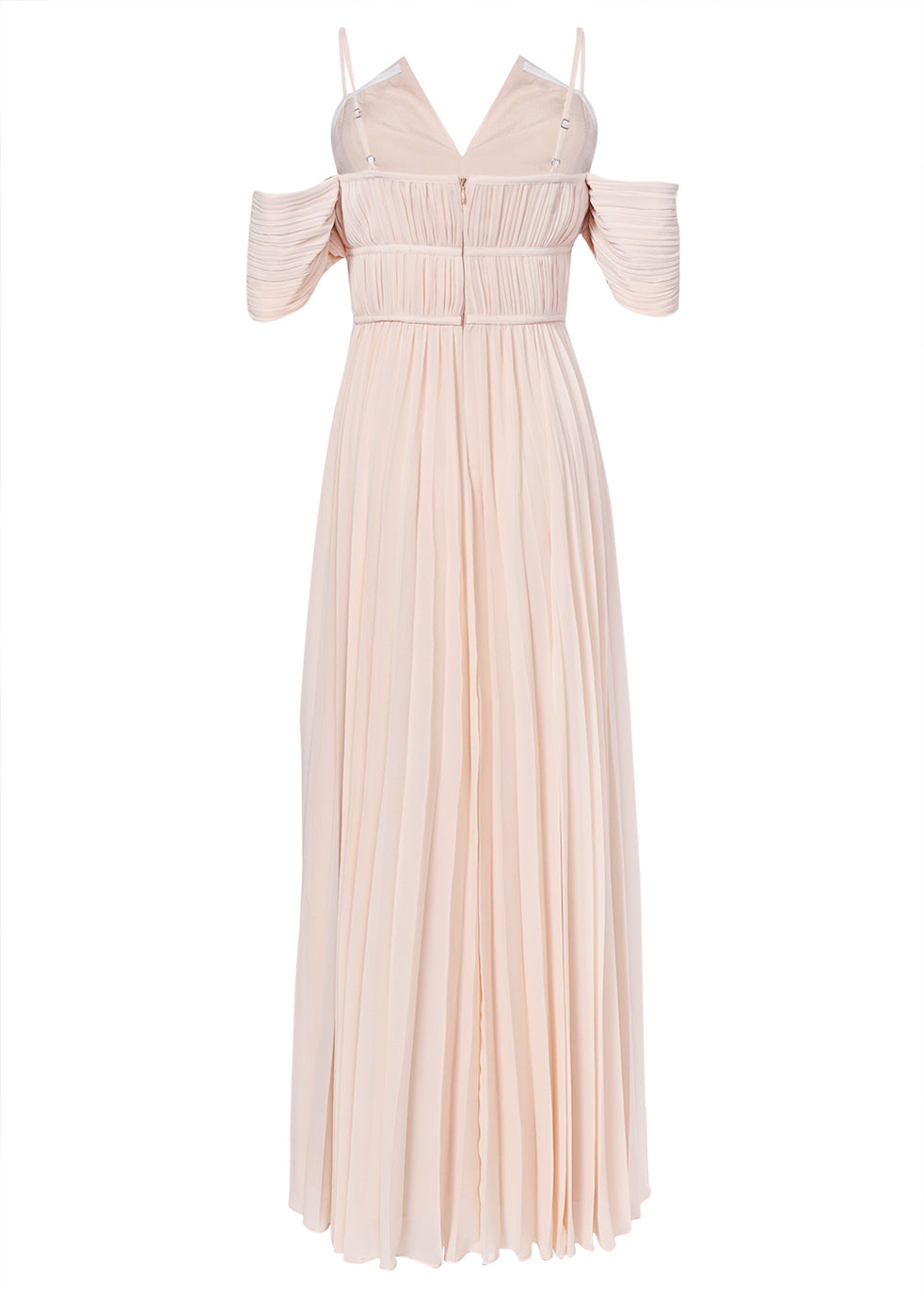 True Decadence Nude Bardot Maxi Dress