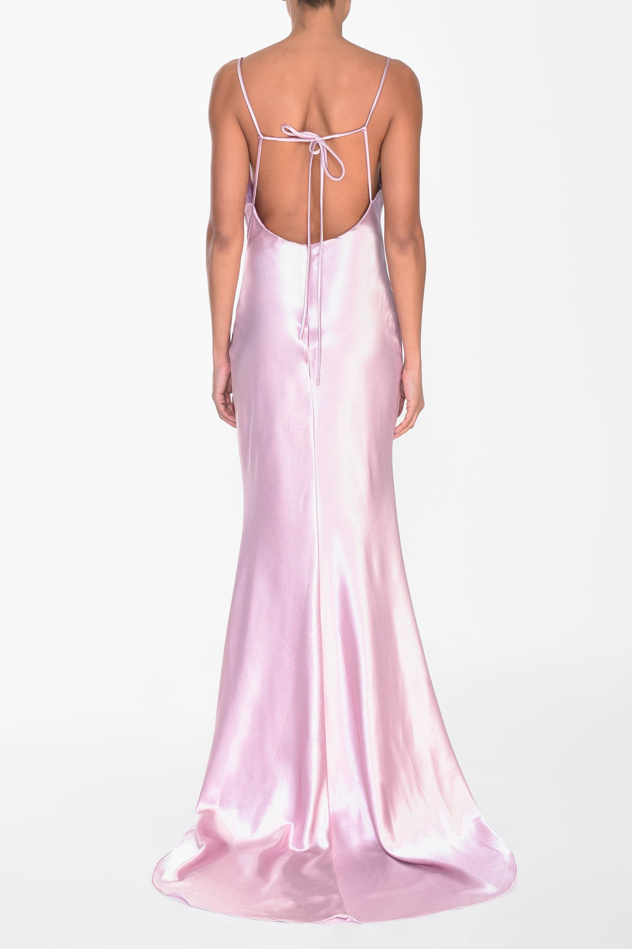 Dusty Pink Satin Cowl Neck Slip Dress
