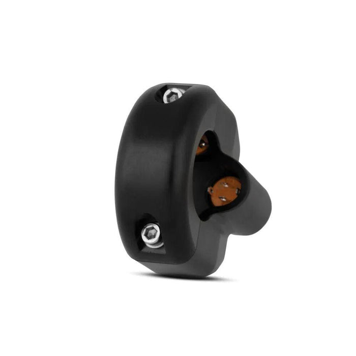 Commodo Led 3 boutons Noir 1""