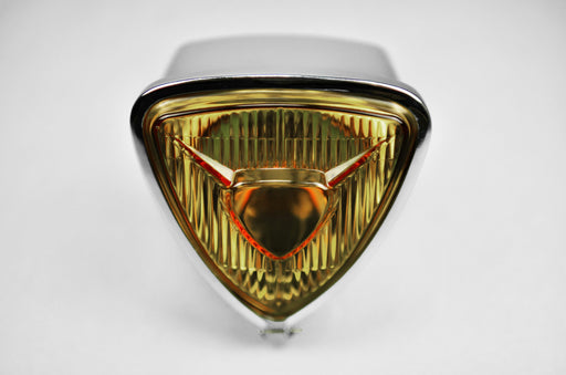 phare bates jaune verre scrambler cafe racer bobber custom brat style rond vintage poly feu feux moto frenchmonkey led full harley bulle grille protection triangle mobylette (638842077241)