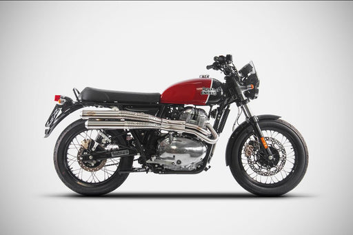 Échappement Zard Flat Inox Royal Enfield Continental GT / Interceptor