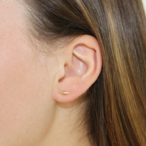 Diana Mitchell Wave Stud Earrings