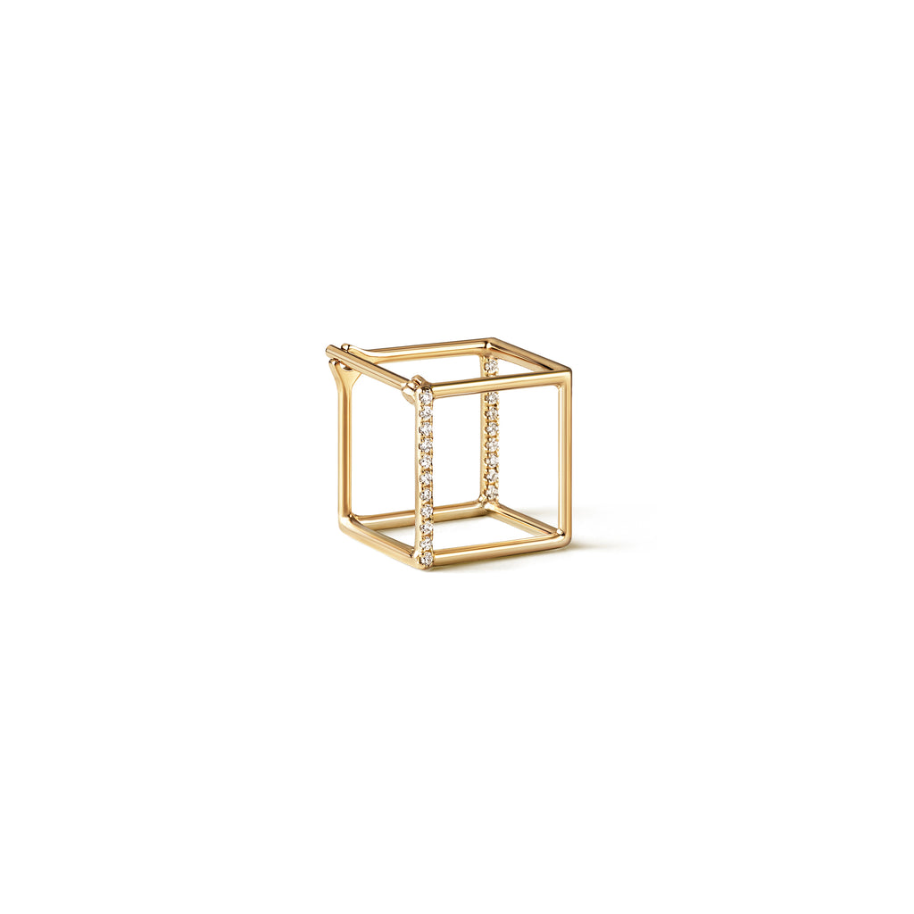 3D Square Diamond Earring 10
