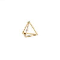 3D Triangle Diamond Earring 15