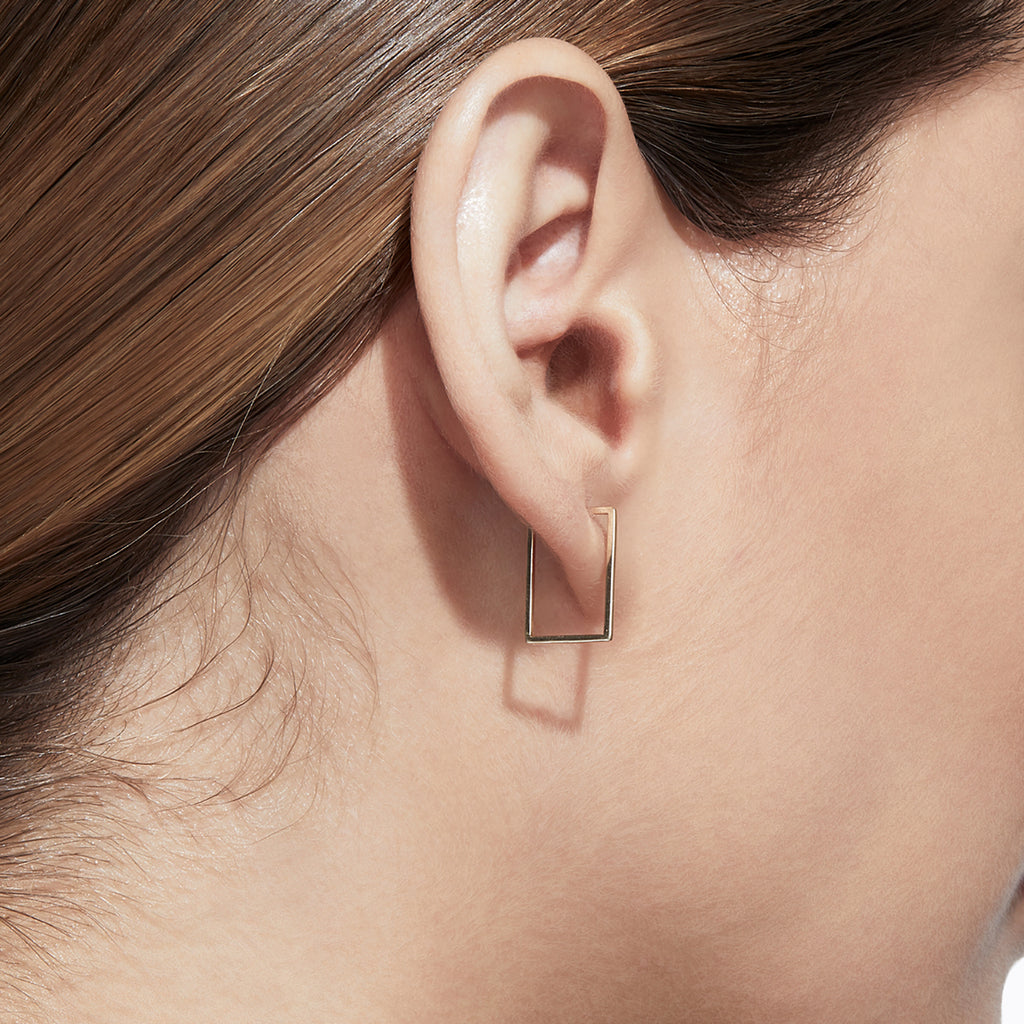Rectangular Form Earring 02