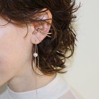Hirotaka Chain Ear Threader Pearl Earring