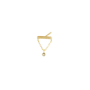 Hirotaka Diamond Bar Stud Earring