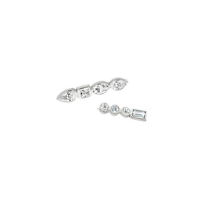 Ilana Ariel Diamond Mismatched Ear Pin Earrings