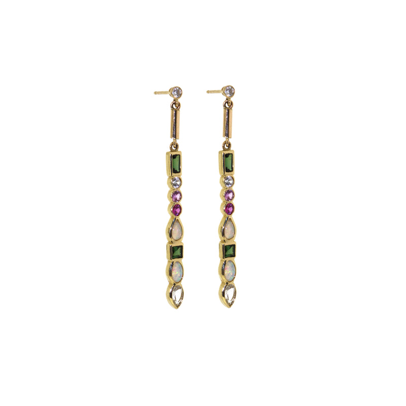 Ilana Ariel Multi Stone Matchstick Earrings