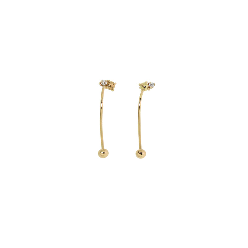 Jack & G Diamond Drop Earrings