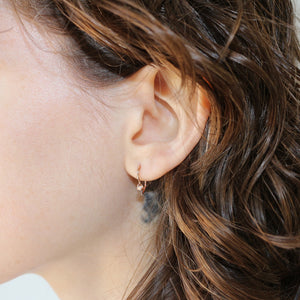 rose gold half hoop earrings