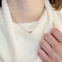 Three Bezel Necklace