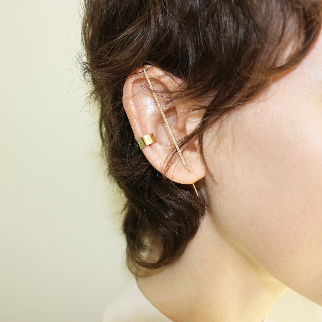 Diamond Thread Ear Pin