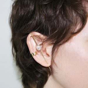 Floating Pearl Ear Pin