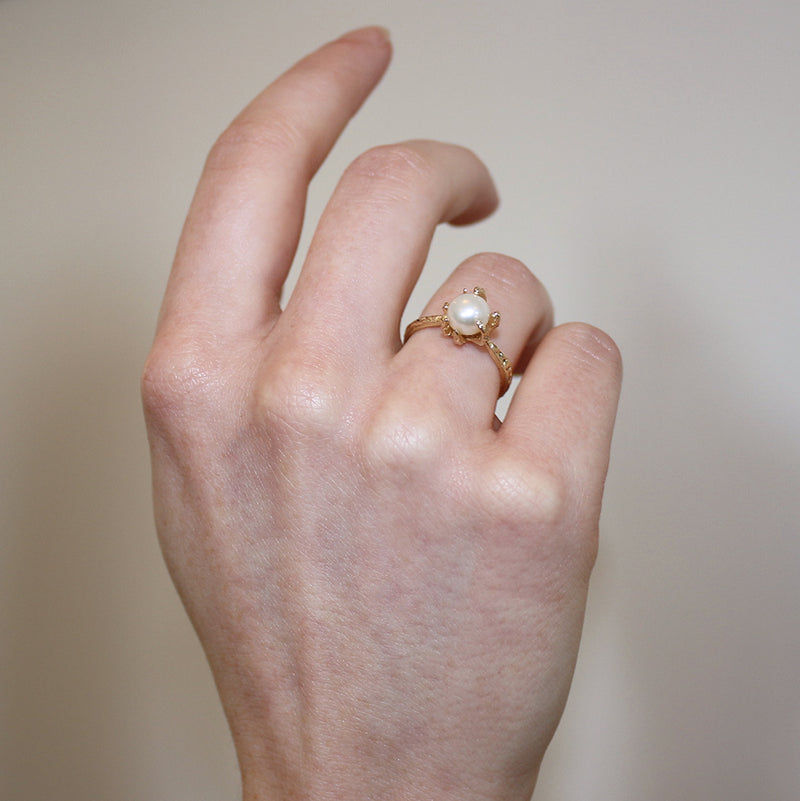 Lauren Wolf Pearl Claw Ring
