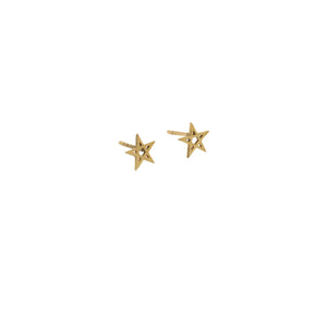 gold pentagram earrings