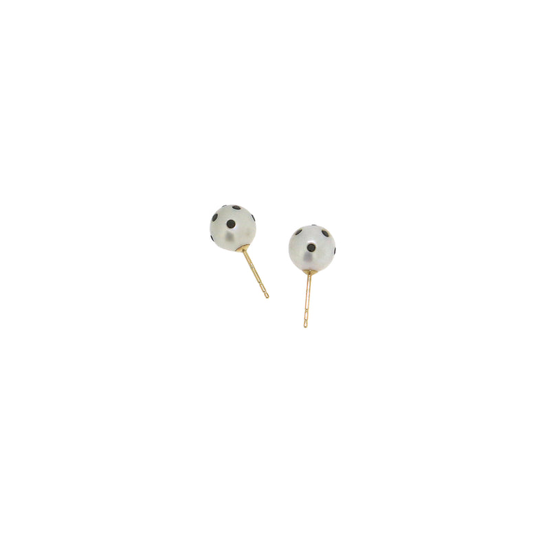 Nektar De Stagni Ladybug Diamond Pearl Earrings