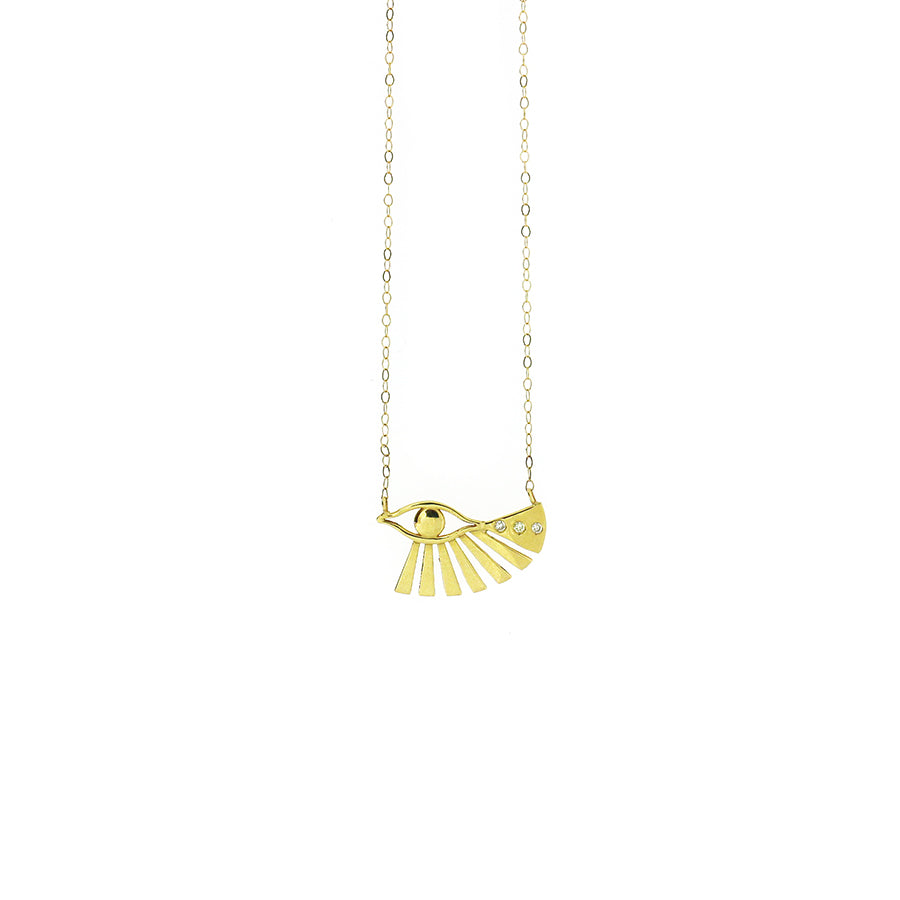 Sehti Na Eye of Horus Bird Necklace
