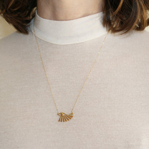 eye of horus bird necklace