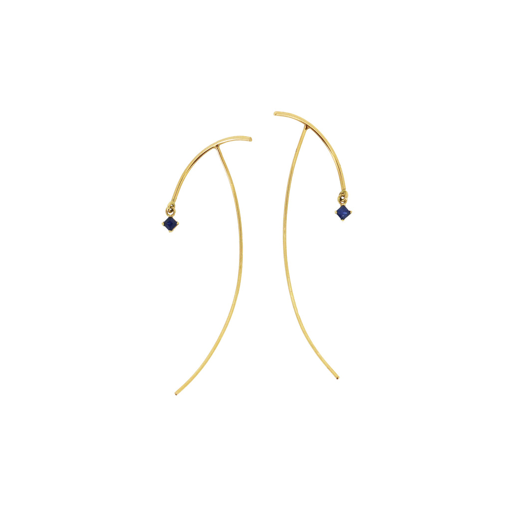 arc sapphire stabile earrings