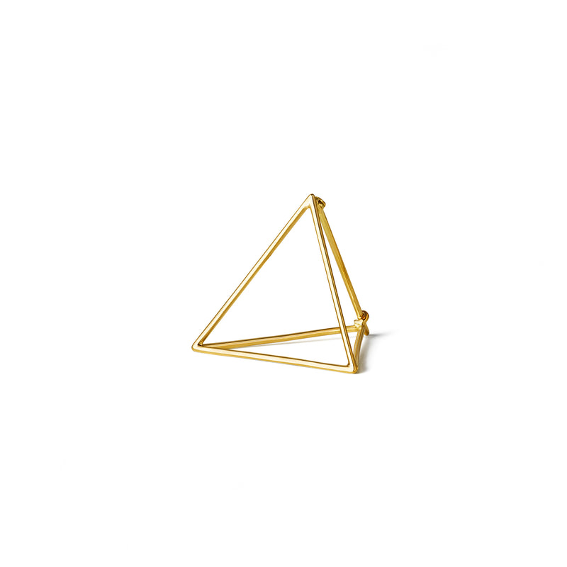 3D Triangle Earring 25