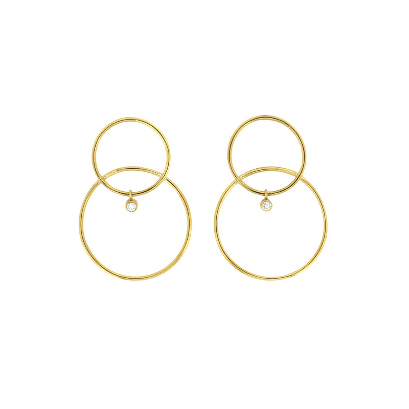 White/Space Scarpa Diamond Earrings