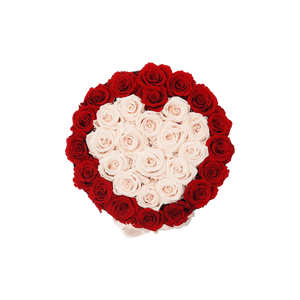 Orb Grand Red And Baby Pink Heart Roses
