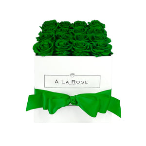 Emerald Green Roses - Square Box