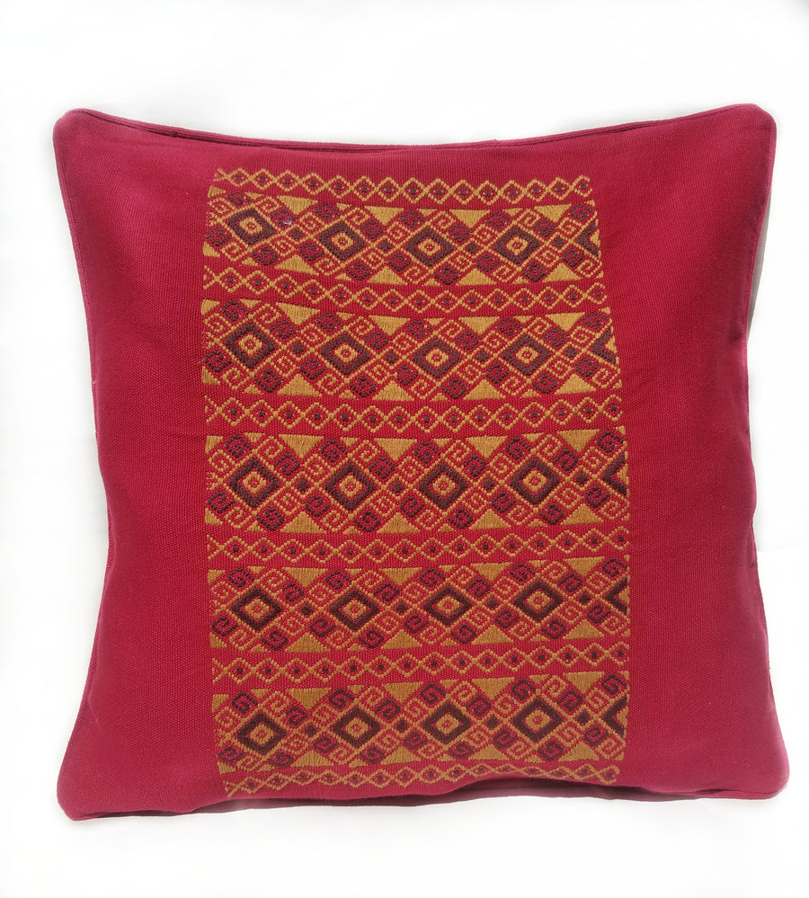 Dark Red diamond Cushion Cover