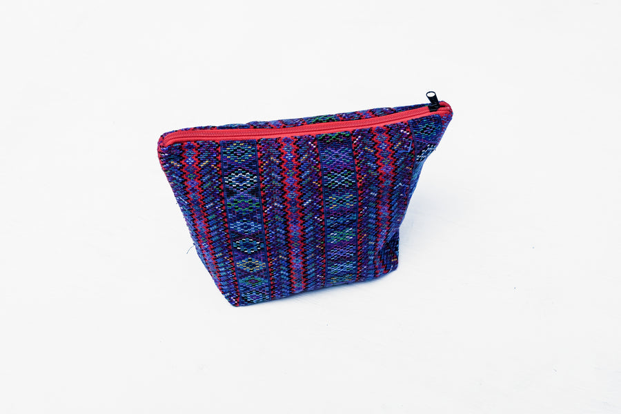 Large Huipil Cosmetic Bag